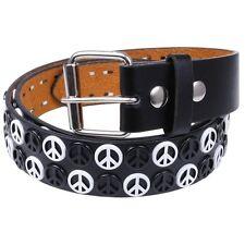 Two Tone Peace Studded Belt