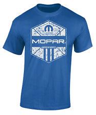 MOPAR AMERICAN MUSCLE MEN'S COTTON ROYAL BLUE SHORT SLEEVE TEE SHIRT