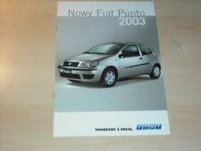24234) Fiat Punto Polen Prospekt 2003