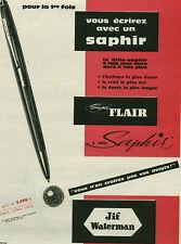 Publicité ancienne stylo saphir Waterman  1950