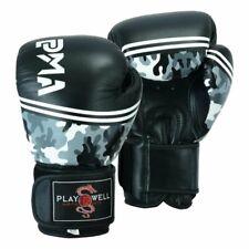 PMA Pro Elite Leather Camo Boxing Gloves Sparring Kick Muay Thai MMA Mitts