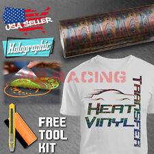 "Rainbow Wave Heat Transfer Vinyl HTV T-Shirt 20"" Wide Roll Iron On / Heat Press"