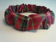 Christmas Plaid  Dog Collar Cover Scrunchie Custom Made by Linda XS S M L