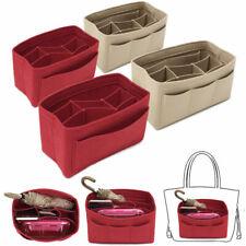 Portable Felt Fabric Purse Handbag Organizer Bag W/ Multi Insert Large Pocket *