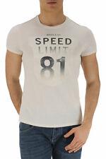 T-shirt Maglietta Armani Jeans AJ T-Shirt Sweatshirt -25% Uomo Panna A6H13MV-C1