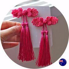 Girls Kids Children Chinese new year Princess QIPAO Costume match hair Clips