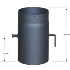 Ofenrohr L=250mm Ø150mm mit Drosselklappe für Kaminofen, Rauchrohr, Abgasrohr