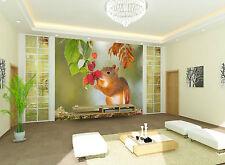 3D scoiattolo 45 Parete Murale Foto Carta da parati immagine sfondo muro stampa