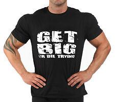 "T-Shirt Bodybuilding Fitness Palestra ""Get Big..."""