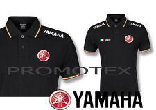 polo yamaha factory cotone tricolore corse italia racing maglietta