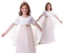 Costume Christmas Nativity Girls Kids Outfit White Angel Gabriel Fancy Dress