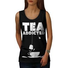 Tea Addict Drink Food Women Tank Top NEW | Wellcoda