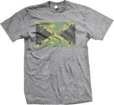 Distressed Jamaica Paint Splatter Flag - Jamaican Pride  Mens T-shirt