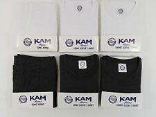Big Size Mens Kingsize White Grey Long Short Sleeve Johns Tshirt Thermal T Shirt
