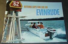 VINTAGE 1962 EVINRUDE OUTBOARD MOTOR SALES BROCHURE 24 PAGES NICE