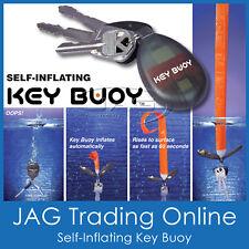 SELF-INFLATING KEY RING BUOY FLOATING BOAT KEYRING - Float/Marine/Water/Keychain
