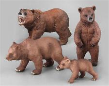 PVC Animals Polar Bear Static Model Action Figures Kids Educational Toys Gift JD
