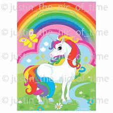UNICORN Rainbow Childrens Birthday Party Pink Loot Bags Girls Supplies Job Lot