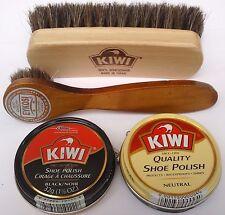 KIWI BLACK NEUTRAL  SHOE POLISH CREAM KIWI SHINE BRUSH & DAUBER, SELECT: Items