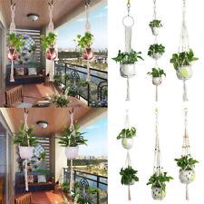 Garden Indoor Outdoor Plant Macrame Hanger Flower Pot Holder Hanging Rope Basket