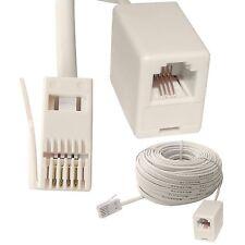2m 3m 5m 10m 15m ADSL RJ11 UK to US Broadband Modem Extension Cable Lead