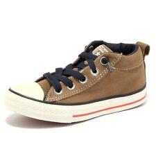 4912U sneaker bimbo CONVERSE marrone chiaro scarpa shoe kid