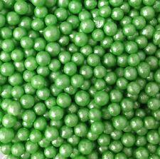 GREEN PEARL SUGAR BALLS EDIBLE SPRINKLES 8MM CUPCAKE CAKE DECORATIONS