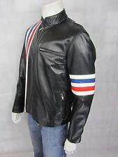 Smart Range New Men Black Soft Napa Short Biker Leather Jacket Bike Rock