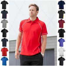 Para Hombres Camisa Polo Golf Transpirable Ligero Deporte Running Entrenamiento Gimnasio wickable