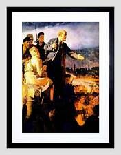 QUADRI Ritratto rivoluzione russa LENIN Nero Framed Art Print b12x9908