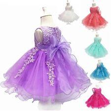 Baby Geburtstag Tutu Kleid Prinzessin Bubble Spitze Netz Neugeborenes Taufe