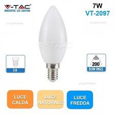 V-TAC LAMPADINA LED E14 CANDELA 7W V-TAC VT-2097 BULB LAMPADA OLIVA