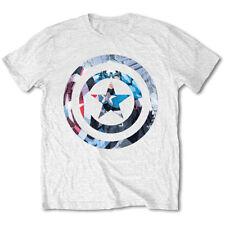 Ufficiali Marvel Comics mens maglietta bianca: Captain America knock out