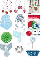 Christmas Snowflake Party decoration tableware loot bag bulk Supply xmas ceiling