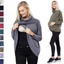 Happy Mama. Women's Maternity Nursing Wrap Top Thin Knitwear Double Layer. 370p