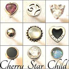925 sterling silver single stud earring 10 styles for ear nose belly Syd seller