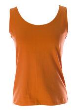 Lunn Women's Djinn Mandarine Scoop Neck Tank Top E114LA102 $80 NEW
