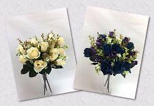 3 X Artificial Silk Flower Rose Bunches Wedding bouquet Flowers Posy Home Decor