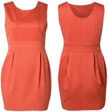 New Women's Plus Size Gorgeous Coral Scuba Balloon Party Dress 16-26