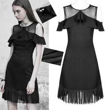 Robe gothique lolita charleston volants plissé voilage fashion été PunkRave Noir