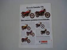 advertising Pubblicità 1979 MOTO YAMAHA XS 750 E/1100