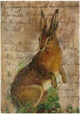BÃœGELBILD-Vintage-Shabby-Nostalgie-Hase-Ostern-Easter-Hase-3245