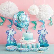 MERMAID party range, Birthday Party Packs, tableware, balloons, decorations