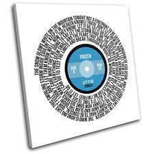 Frozen Let it Go Record Movie Lyrics Vinyl Canvas Wall Art Picture Print