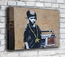 Banksy Canvas - Ghetto Blaster