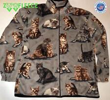 ZooFleece Gray Cats Fleece Jacket Kittens Cat Soft Paws Pet Animal Sweater S-3X