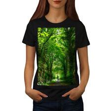 Green Forest Road Women T-shirt S-2XL NEW | Wellcoda