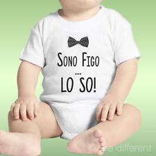 Body Neonato Bimbo Sono Figo Lo So! Idea Regalo