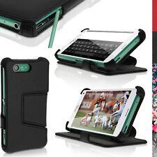 De Cuero Pu Flip Funda Para Sony Xperia Z3 Compacto d5803 Stand Libro Folio Cover