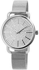 Excellanc Damenuhr Uhr mit Meshband Hochwertiges Quarzwerk Großes Zifferblatt